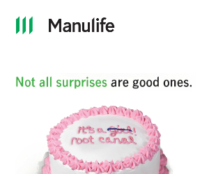 Not all surprises are good ones. Manulife.