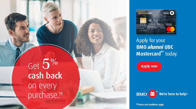 alumni UBC Mastercard - Get 5% cash back on every purchase. Apply now.