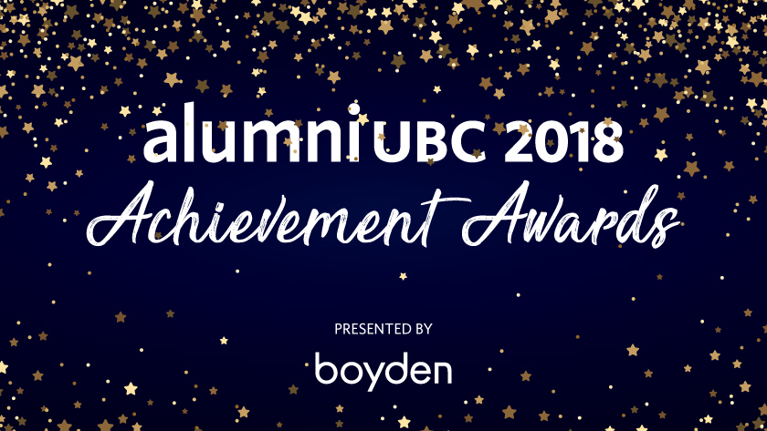 alumni UBC 2018 Achievement Awards