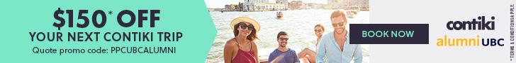 Contiki - $150 off your next Contiki trip. Quote promo code: PPCUBCALUMNI - Book Now