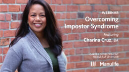 Webinar - Overcoming Impostor Syndrome - Featuring Charina Cruz, BA. Presented by Manulife