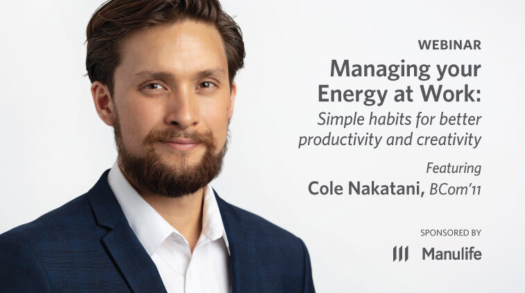 Webinar – Managing Your Energy at Work: Simple habits for better productivity and creativity
