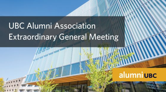 alumni UBC Extraordinary General Meeting 2018