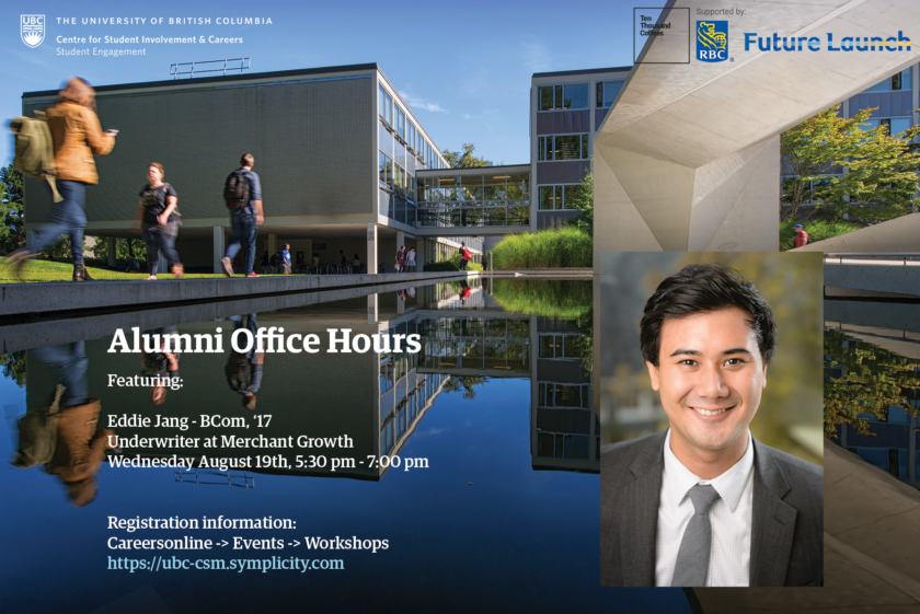 Alumni Office Hours Featuring: Eddie Jang, BCom '17
