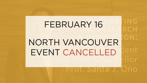 North Vancouver Event Cancelled