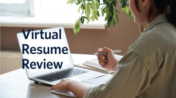 Virtual Resume Review