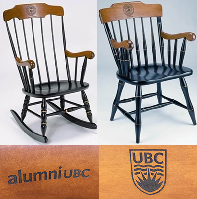 Custom UBC or alumni UBC chairs