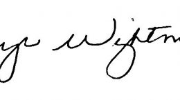 Faye Wightman signature