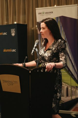 Michele Murphy at Terminal City Club Forty under 40 alumNIGHTS