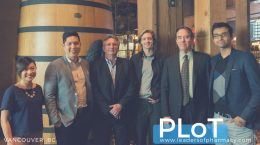 ScriptPro CEO Mike Coughlin (second from right) came for an evening from Kansas City, Missouri to guest host at PLoT.