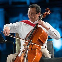 Prof. Santa J. Ono playing the cello