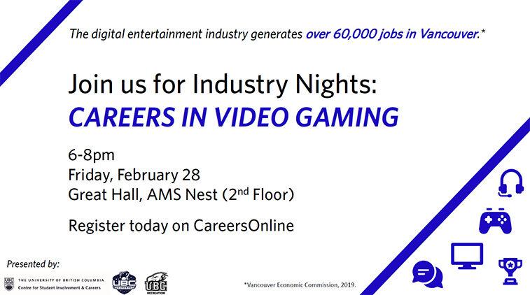 Industry Night: Careers in Video Gaming
